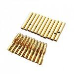2mm Gold Bullet Connectors 10 Pairs