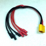 XT60 to 3 X 3.5mm bullet Power Breakout Cable