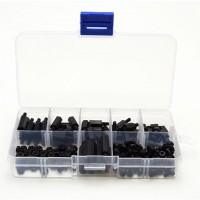180pcs M3 Nylon Black Assortment Kit