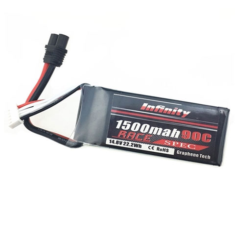 Infinity 1500mah 14.8V 90C 4S1P Race Spec Lipo Battery