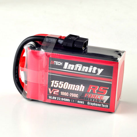 Infinity 1550mah 14.8V 100C 4S1P RS Force Edition V2