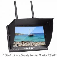 FPV LCD5802S 40CH 7 Inch Monitor With Build-in Battery