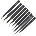 Stainless Steel Tweezers Set 9pcs