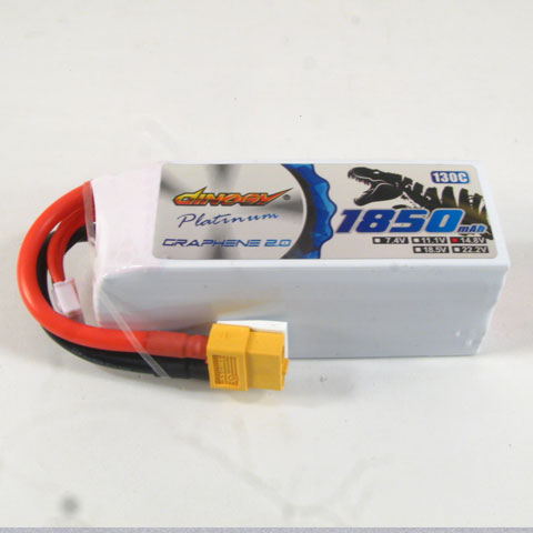 DINOGY PLATINUM GRAPHENE 2.0 4S-1850mAh 130C LIPO BATTERY